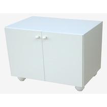 Mueble Porta Microondas Melamina Blanca 60x60 Amoblamiento
