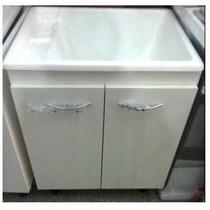Mueble Lavadero 62x48 Melamina 18 Mm C/pileta Fibra Marmolin