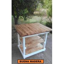 Isla De Madera Para Cocina, Rustica, Buena Madera