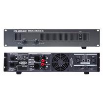Amplificador De Potencia Profesional Phonic Max 2500 | 1500w