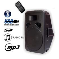 Bafle Potenciado Activo Bluetooth Usb Sd 15 2200w - La Roca