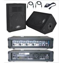 Combo Amplificador 4 Ch + 2 Bafles Peavey + Micrófono Bueno