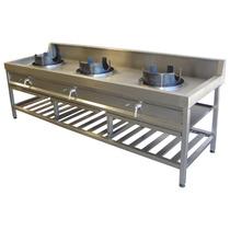 Anafe Industrial Cocina Wok 3 Quemadores 18.0000 Kcal/h Gn
