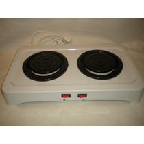 Anafe Electrico Dos Hornallas Doble Cocina Camping Oferta!!!