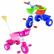 Oferta!triciclo Rondi Pink/blue Metal,barral D Arrastre,aro!