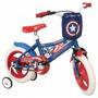 Bicicleta Rodado 12 Capitan America Nena,varon,niños Ruedita
