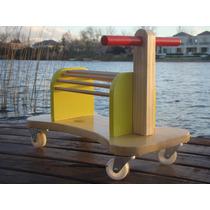 Andador Caminador Zapatilla Pata Pata De Madera Didactico