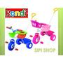 Triciclo Rondi Metal Blue O Pink Nena O Nene Con Barral