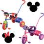 Triciclo Con Barra De Paseo Mickey O Minnie Licencia Disney