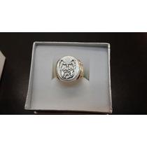 Anillo De Plata Y Oro Bulldog Frances