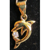 Accesorios De Moda, Dijes Enchapados En Oro. Delfin
