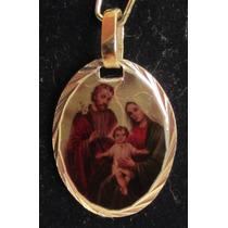 Accesorios De Moda, Dijes Enchapados En Oro. Sagrada Familia