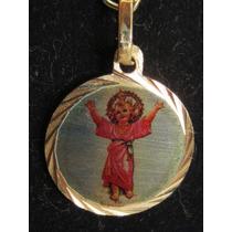Accesorios De Moda, Dijes Enchapados En Oro. Niño Jesus