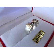 Anillo Doble Inicial Plata 950 Y Oro 18k -merlin Joyas-