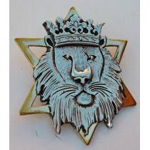Judah Rastafari Dije Leon Y David Plata Oro 4 Cm Modelo 09