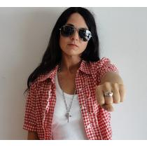 Anillo De Calavera Cruz It Girl Ultima Moda!