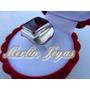Anillo Sello Plata Fina 950 Con Rubie - M. J. -