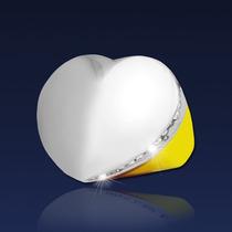 Anillo - Corazón Y Cubics - Acero Quirúrgico