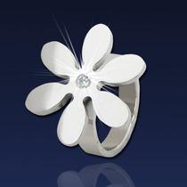 Anillo Flor- Cubic Acero Quirúrgico