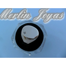 Anillo Sello Oro 18k - Oval Para Grabar - 9 Grs - M. J. -