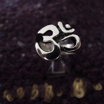Anillo Diseño Om Yoga Espiritual Plata 925 A71n