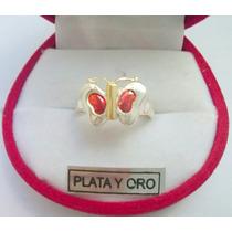Anillo Mariposa Con Cubic En Plata Y Oro!!