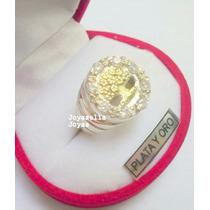 Anillo Arbol De La Vida En Plata Y Oro Con Piedras