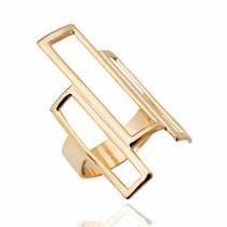 Anillo Geometric Laminado En Oro - Labrada - Rommy