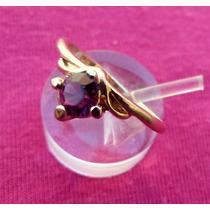 Anillo Oro 14k Gold Filled Con Amatista Purpura De Sri Lanka