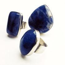 Anillo Galaxy (cuarzo Azul - Rectangular -)