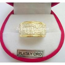 Anillo Plata Y Oro Con Cubic Y Guarda. Hermoso!!