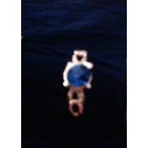 Cintillo.anillo Solitario.oro Enchapado.