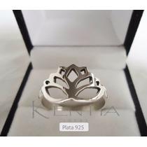Anillo Plata 925 Flor De Loto Yoga Budismo. Muy Exclusivo!!!
