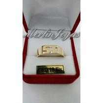 Anillo Doble Con Inicial - Oro 18k - 4 Gramos - M. J