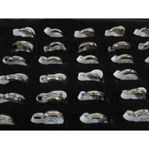 Set 36 Anillos Alianzas Acero Quirurgico Exhibidor V Medidas