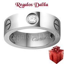 Anillo Cartier Acero Quirúrgico Plata C/cubics Imp. De Usa!!