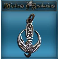 Egipcios Medalla Isis En Plata 1,3 Cm Modelo 06