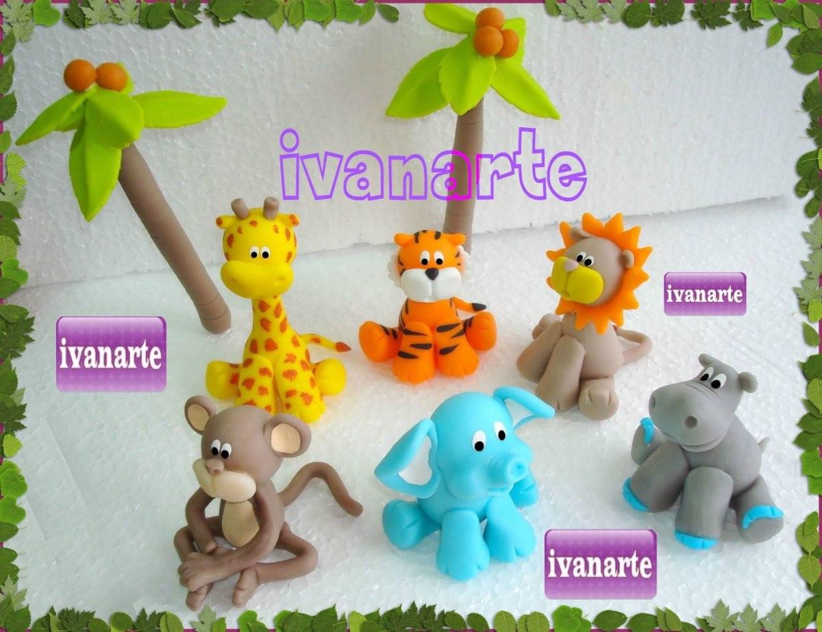 Etiquetas stickers con animalitos de selva | Kits para