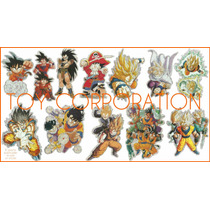 Sticker Plateado Con Relieve Hologramado Goku Vegeta Raditz