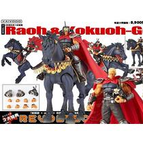 Hokuto No Ken Puño Estrella Norte Revoltech Raoh + Kokuoh-oh