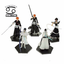 Set X 5 Figuras Bleach - Ichigo ,ulquiorra ,rukia ...13 Cm