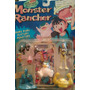 Set De Monstruos Monsters Rancher 5 Figuras Con Carta Retro