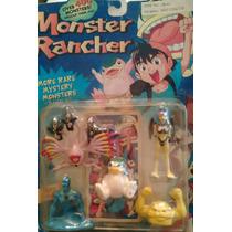 Set De Monstruos Monsters Rancher 5 Figuras Con Carta Retro