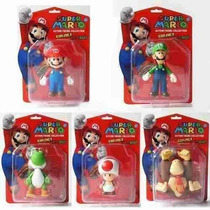 Muñecos De Super Mario - Mario Luigi Yoshi Honguito Bowser