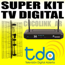 Kit Digital Tda Decodificador + Antena + Cable Sin Abonos!