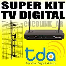 Kit Digital Tda Decodificador + Antena + Cable Sin Abonos!