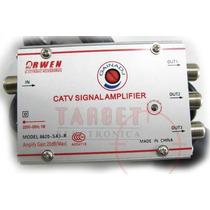 Amplificador De Antena Catv 20 Db 3 Salidas C/control Gananc