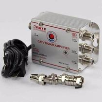 Amplificador De Señal Antena Cable Tv 3 Salidas 20db