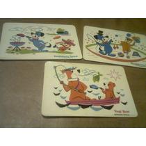Lote X 3 Antiguas Postales Hanna Barbera Yogui Hucky Retro!!