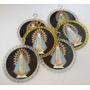 Lote 8 Medallones Acrilico Virgen De Lujan Antiguos